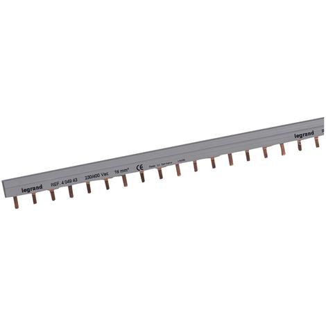 Peigne d'alimentation HX³ - 3P - pour bornes à vis - L. au mètre - 19 mod