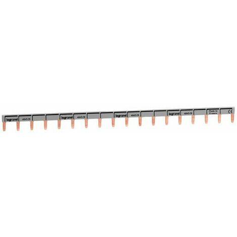 Peigne d'alimentation universel Phase + Neutre HX³ horizontale 1P - longueur 18 modules