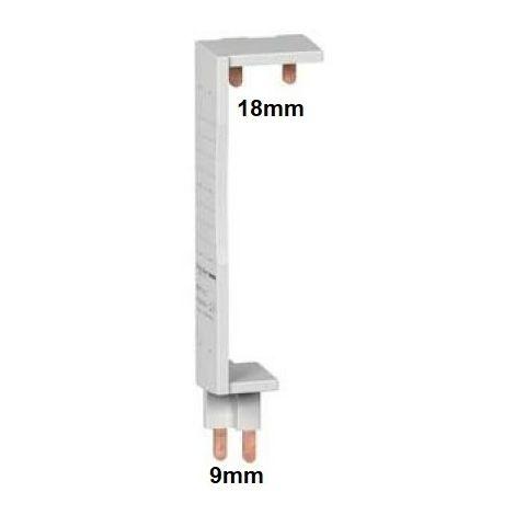 Peigne d'alimentation vertical 1P+N 1 rangée entraxe 125mm XP pour coffrets Opale entraxe 125mm SCHNEIDER 14909