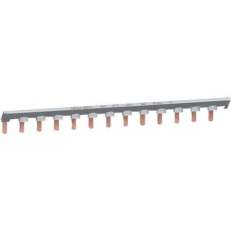 Peigne de répartition 13 modules gris (phase) 26pas de 9mm pour modulaire DuoLine XP Bar'clic SCHNEIDER 14878