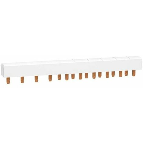 Peigne monobloc XP Resi9 - 3P+N - 63A - 20 pas - Cache dents de 5 modules