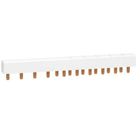 Peigne monobloc XP Resi9 - 3P+N - 63A - 26 pas - Cache dents de 5 modules