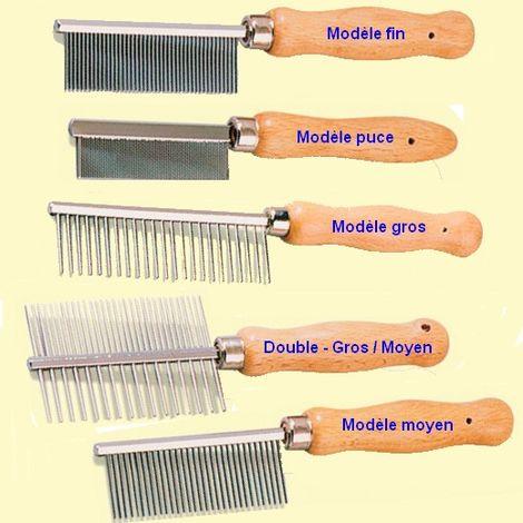 Peigne pour chiens et chats avec manche en bois Désignation : Peigne 22 cm | Type : Dents 3.2 cm espacés de 4 mm MORIN 305002