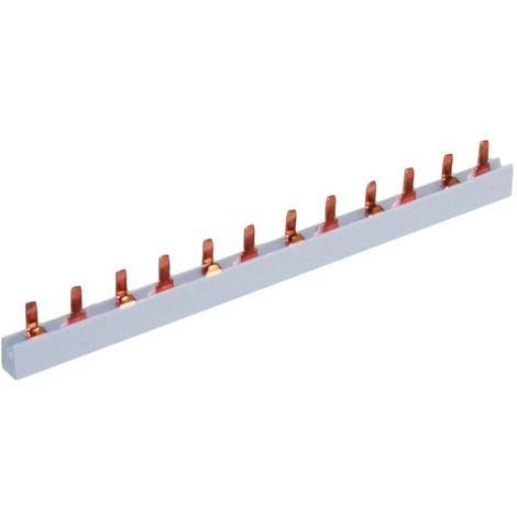 Peine tripolar 19x3 módulos sección 10mm2 63A longitud 1m SOLERA P3P100010
