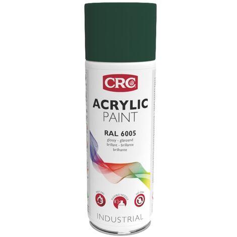 Peinture Acry Vert Mousse RAL 6005 aérosol de 400ml net CRC