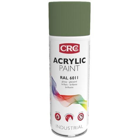 Peinture Acryl Vert Reseda RAL 6011 aérosol de 400ml net CRC
