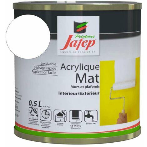 Peinture acrylique Blanc mat Jafep 2,5 L