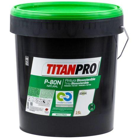 Peinture acrylique blanche Biosoutenable P80N 15L Titan Pro