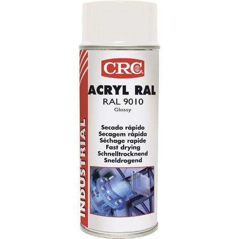 Peinture acrylique CRC Aérosol - Blanc brillant - 520ml/400ml