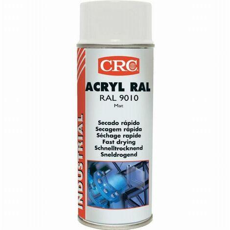 Peinture acrylique CRC Aérosol - Blanc mat - 520ml/400ml