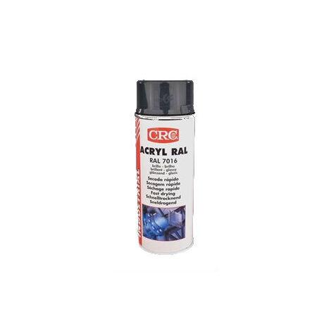Peinture acrylique CRC Aérosol - Gris anthracite - 520/400 ml - 32194