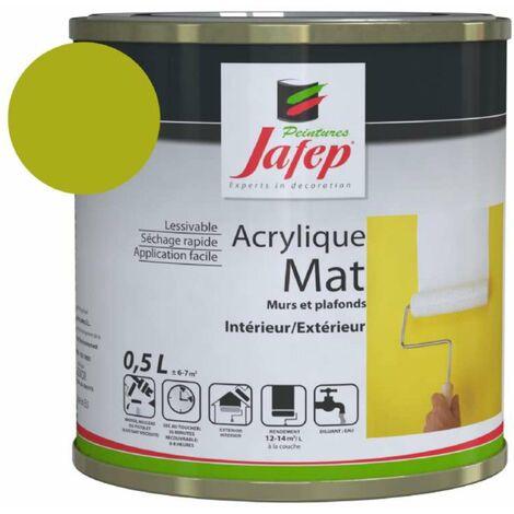 Peinture acrylique mat citron vert Jafep 0,5L
