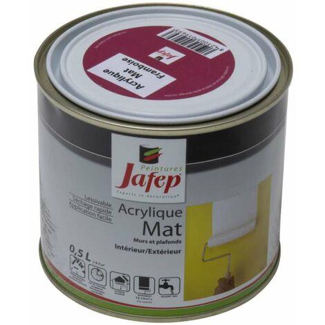 Peinture acrylique mat framboise Jafep 0,5L 0,5 L