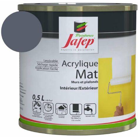 Peinture acrylique mat gris ardoise Jafep 0,5 L