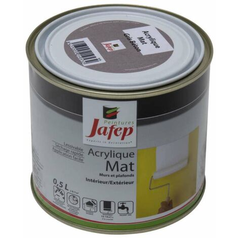 Peinture acrylique mat gris béton Jafep 2,5 L