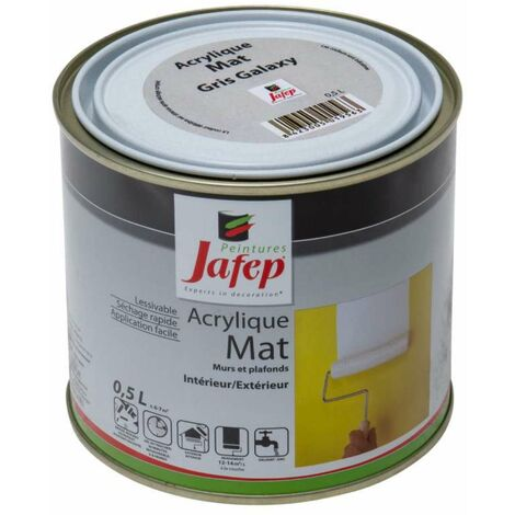 Peinture acrylique mat gris galaxy Jafep 0,5L