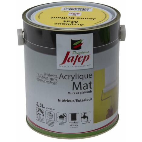 Peinture acrylique mat jaune brillant Jafep 2,5L