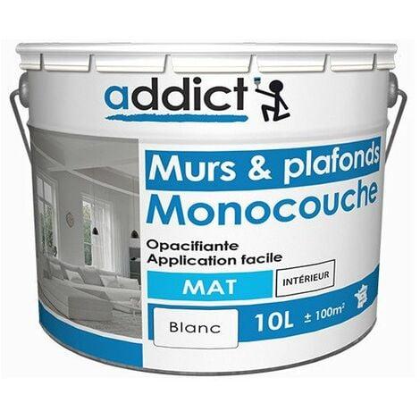Peinture Acrylique Mat Monocouche 10 L - ADDICT