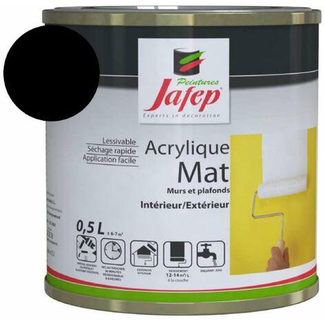 Peinture acrylique mat noir Jafep 2,5 L