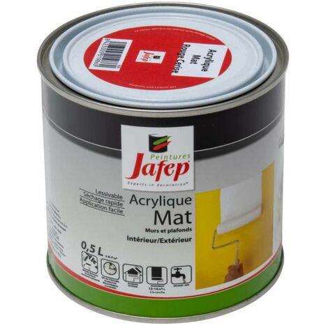 Peinture acrylique mat rouge cerise Jafep 0,5L