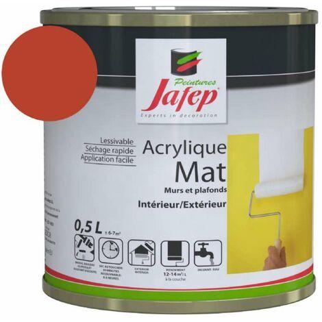 Peinture acrylique mat rouge vif Jafep 0,5 L