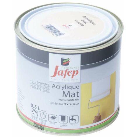 Peinture acrylique mat vanille Jafep 0,5L