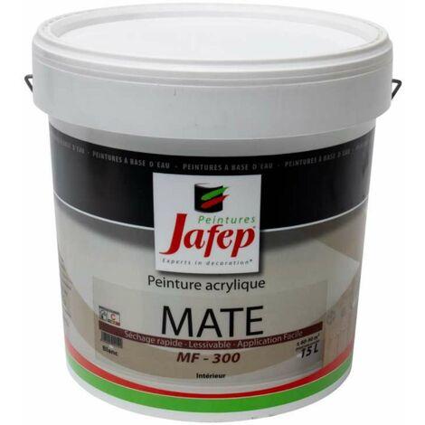 Peinture acrylique mate blanc MF-300 15 L Jafep