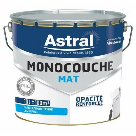 Peinture acrylique monocouche mate blanc base white 10L