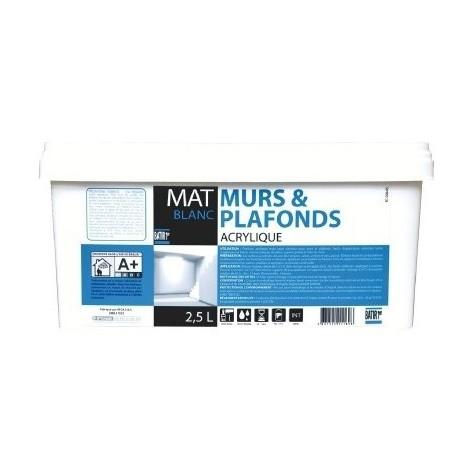 Peinture acrylique murs et plafonds Mat- Batir