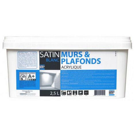 Peinture acrylique murs et plafonds Satin - Batir