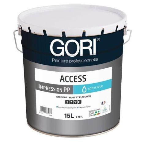 Peinture acrylique plaques de plâtre GORIACCESS IMPRESSION, blanc bidon de 15 litres
