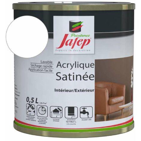 Peinture acrylique satinée blanc pro Jafep 0,5 L