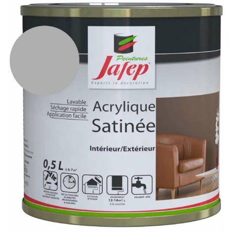 Peinture acrylique satinée gris acier Jafep  0,5l