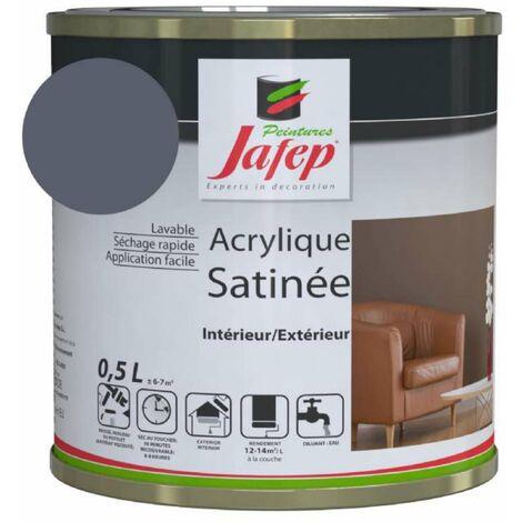 Peinture acrylique satinée gris ardoise Jafep  0,5l