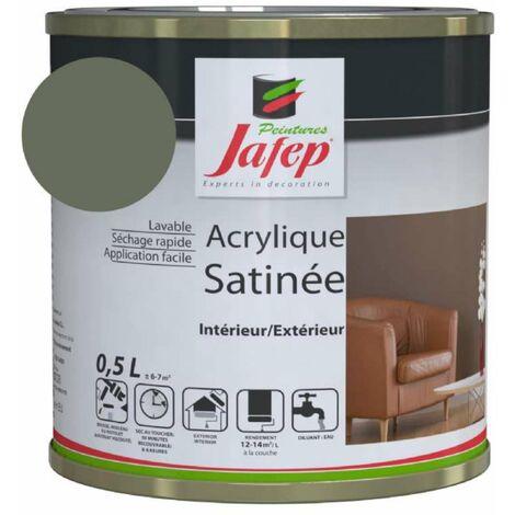 Peinture acrylique satinée gris béton Jafep  0,5l