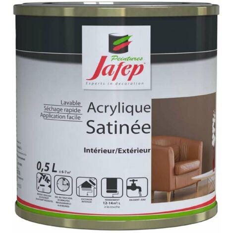 Peinture acrylique satinée gris galaxy 0,5L Jafep