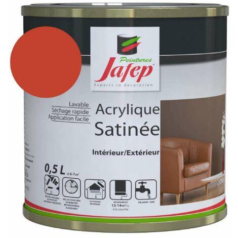 Peinture acrylique satinée rouge vif Jafep 2,5 L