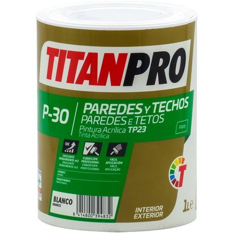Peinture acrylique TP23 Blanc mat P30 Titan Pro
