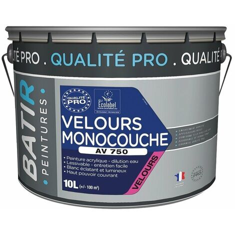 Peinture acrylique velours blanc qualité PRO BATIR - plusieurs modèles disponibles
