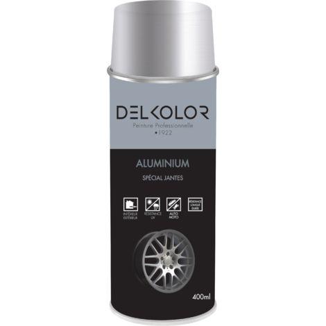 Peinture aérosol Aluminium spécial jantes RAL 9006 400ml | Couleur: Aluminium blanc RAL 9006