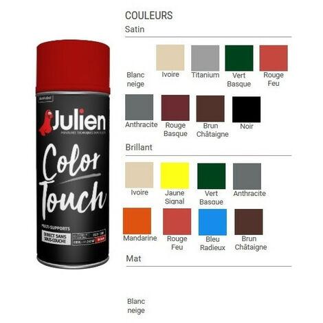 Peinture aérosol Color Touch 400 ml JULIEN - Couleur: Brun chataigne satin RAL 8016