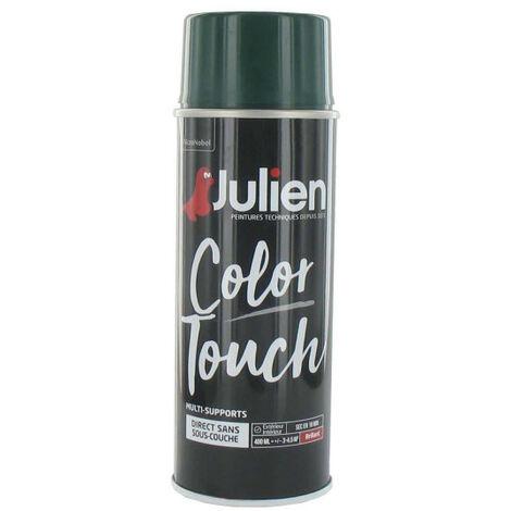 Peinture aérosol Color Touch 400 ml JULIEN (vert basque brillant ral 6005) - Couleur : Vert basque brillant RAL 6005
