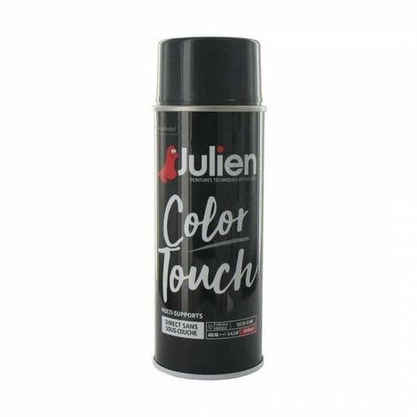 Peinture Aérosol Julien Color Touch Brillant   Gris Anthracite   400 Ml