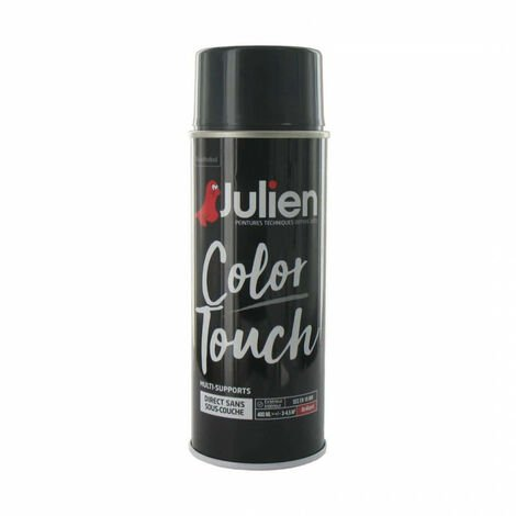 Peinture aérosol Julien Color Touch brillant - Gris anthracite - 400 ml
