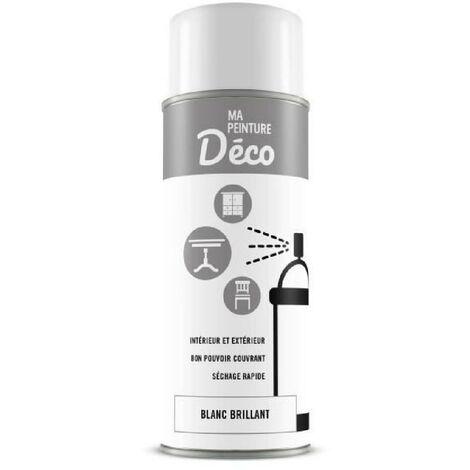 Peinture aérosol déco - 0.4 L - Blanc brillant Generique