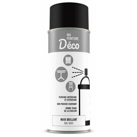 Peinture aérosol déco - 0,4 L - Noir brillant