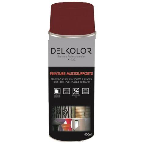 Peinture aérosol Delkolor RAL 3004 Rouge Pourpre 400ml | Couleur: Rouge pourpre RAL 3004