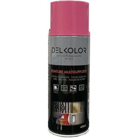 Peinture aérosol Delkolor RAL 4003 Violet Rose 400ml   Couleur: Violet rose RAL 4003