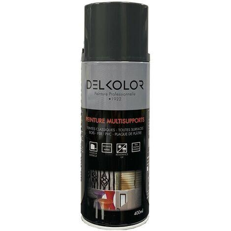 Peinture aérosol Delkolor RAL 7043 Gris Fonte 400ml | Couleur: Gris fonte RAL 7043