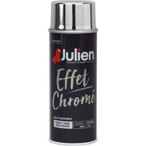 Peinture Aérosol Effet Chromé Multi Supports Brillant Argent 400 Ml Julien